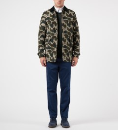 Carhartt WORK IN PROGRESS Camo Mitchell Harris Trenchcoat Model Picutre