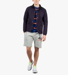 Stussy Blue Mason Sweater Model Picutre