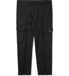 KRISVANASSCHE Black Tapered Leg Chino Pants Picutre
