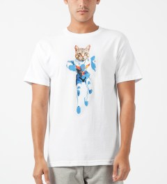 Odd Future White Mellowhype Ultra Cat T-Shirt Model Picture