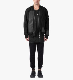 11 By Boris Bidjan Saberi Black/Black J-3 Jacket Model Picutre