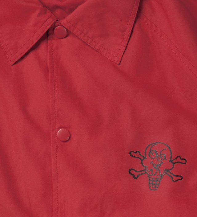 Chinese Red Cone Bar Coach Jacket
