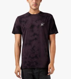 HUF Purple Crystal Wash Small Script S/S T-Shirt Model Picutre