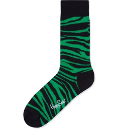 Happy Socks Green/Black Animal Socks Picture