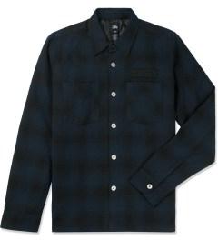 Stussy Navy Hombre Plaid L/S Shirt Picutre