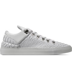 Filling Pieces Wired White Woven Leather Low Top Sneakers Picutre