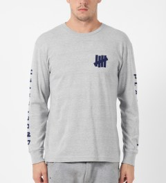 Undefeated Heather Grey Official L/S T-Shirt Model Picture