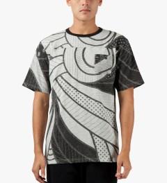 Black Scale Black Alvar Block T-Shirt Model Picutre