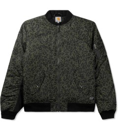 Carhartt WORK IN PROGRESS Cypress/Black Ashton Bomber Jacket Picutre