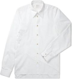 Paul Smith White Contrast Hem L/S Shirt Picutre