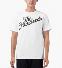 The Hundreds White Forever Slant T-Shirt Model Picutre