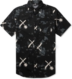 Us Versus Them Black Crosscut Tie-dye Shirt Picutre