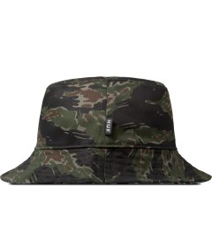 HUF Olive/Black Reversible Tiger Camo Bucket Hat Model Picture