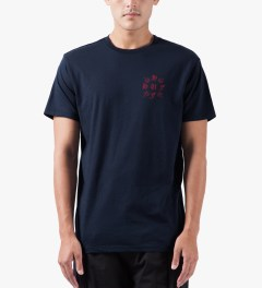 HUF Navy Crossed S/S T-Shirt Model Picutre