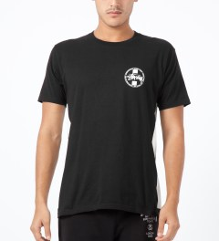 Stussy Black Worldwide Dot T-Shirt Model Picture