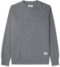 Penfield Grey Hound Print Brockway Crewneck Sweater Picture
