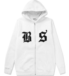 Undefeated White BS Zip Hoodie Picutre