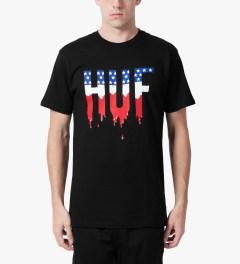 HUF Black Wet American T-Shirt Model Picture
