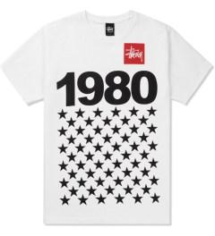 Stussy White 1980 Stars T-Shirt Picutre