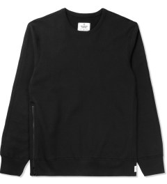 Reigning Champ Black RC-3262 Heavyweight Terry L/S Crew Sweatshirt W/ Side Zip Picture