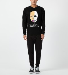 Odd Future Black Earl Sweatskull Crewneck Sweater Model Picture