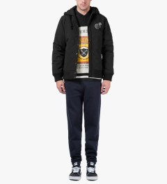 The Hundreds Black Tour Jacket Model Picutre