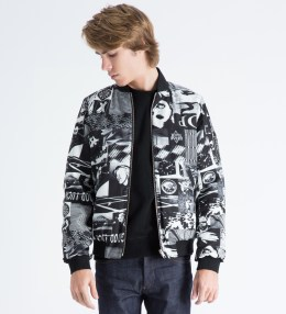 Surface to Air Black/White Pop Reversible Bomber Jacket Picture