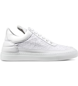 Filling Pieces White Python Low Top Sneakers Picture
