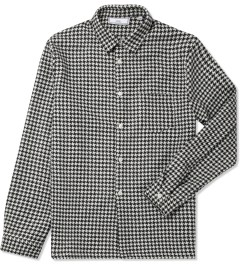 ami Black/White Houndstooth Wool Print L/S Shirt Picture