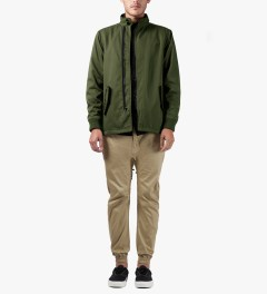 Publish Olive Bolt Jacket Model Picture