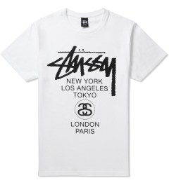 Stussy White World Tour T-Shirt Picture