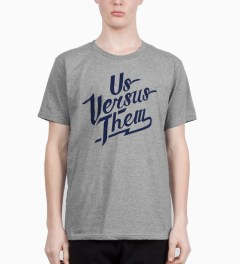 Us Versus Them Heather Grey Ballpark SS T-Shirt Model Picutre