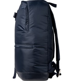 A.P.C. Navy Steven Backpack Model Picture