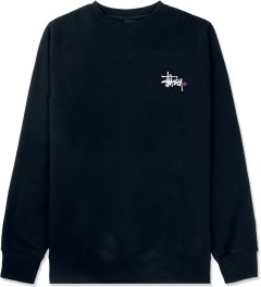 Stussy Navy Basic Logo Crewneck Sweater Picture