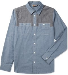 Carhartt WORK IN PROGRESS Blue/Jet Rigid L/S Harrison Shirt Picutre