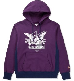 Mark McNairy for Heather Grey Wall Purple Sweat Parka Eagle Sweater Picture