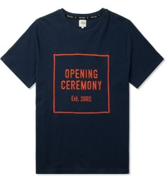 Opening Ceremony Navy Logo Embroidered T-Shirt Picture
