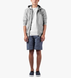 UNYFORME Heather Grey Jones Zip Hoodie Model Picutre