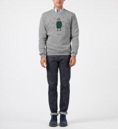 Carven Mottled Grey Little Chap Crewneck Sweater Model Picture