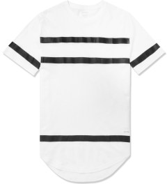 Stampd White Thin Stripe Elongated T-Shirt Picture