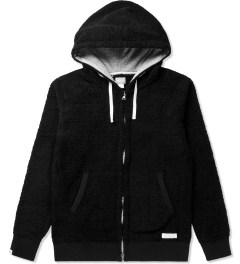 Deluxe Black Workday Fleece Zip-Up Hoodie Picutre