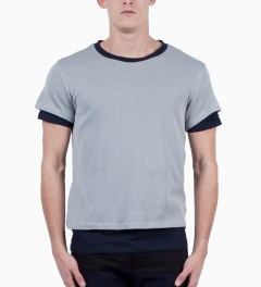 Still Good Grey Pearl/Navy Le Double T-Shirt Model Picutre