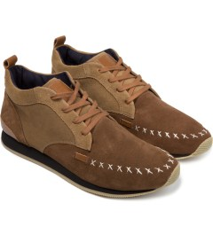 VEJA Starcow X Veja Pack Man Memory Suede Leather Shoes Model Picutre