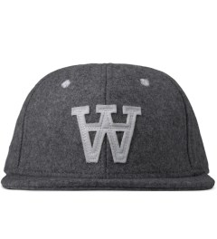 Wood Wood Grey Melange Logo Wool Cap Picture