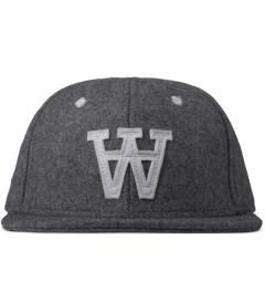 Wood Wood Grey Melange Logo Wool Cap Picture