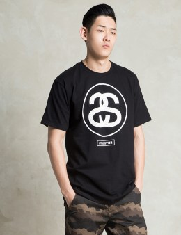 Stussy Black Mesh Link T-Shirt Picture