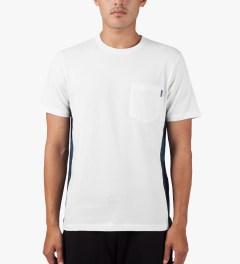 Carhartt WORK IN PROGRESS White/Night Print/Monsoon S/S Glan T-Shirt Model Picutre