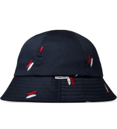 Publish Navy Oliver Quill Shadow Embroidery Bucket Hat Model Picutre