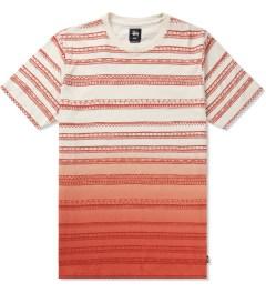 Stussy Orange Fade Tom Tom Crewneck T-Shirt Picutre