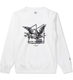 Mark McNairy for Heather Grey Wall White Crew Sweat Eagle Sweater Picture